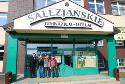 Wizyta w Pile w Liceum Towarzystwa Salezjańskiego